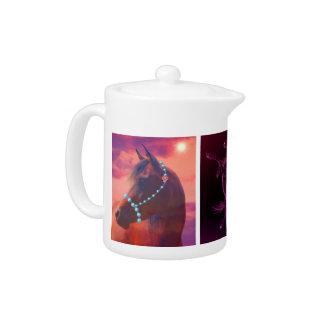 Three Horses Teapot