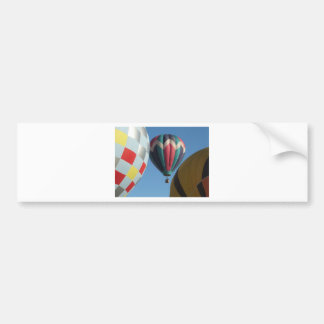Three hot air balloons car bumper sticker