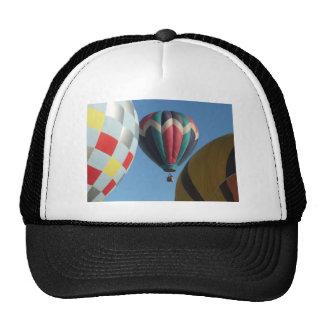 Three hot air balloons hats