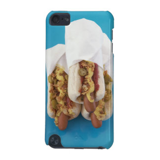 Three hot dogs in buns iPod touch (5th generation) case