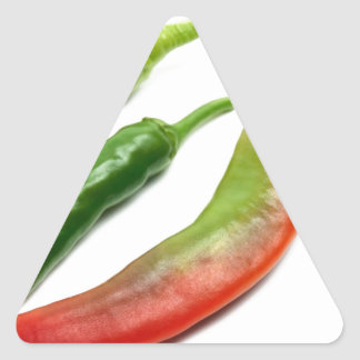 Three hot peppers triangle sticker