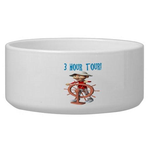 Three Hour Tour Dog Bowls