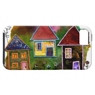 Three House Collage with Flowers iPhone SE/5/5s Case
