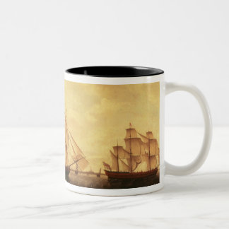 Three Hudson Bay ships in the Thames Two-Tone Coffee Mug