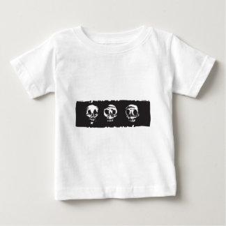 Three Human Skulls Baby T-Shirt