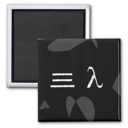 Three Humans 2 Inch Square Magnet