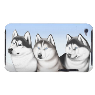 Three Husky Dogs iPod Touch Case