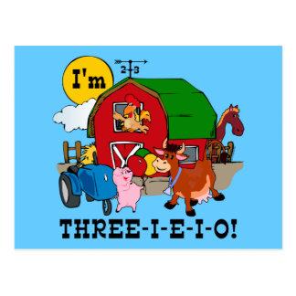 THREE-I-E-I-O POSTCARD