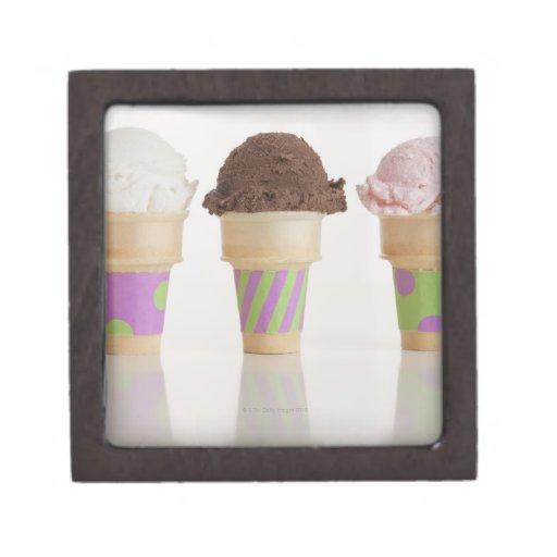 Three ice cream cones premium gift boxes