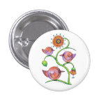 'Three in a tree' Birds Pinback Button