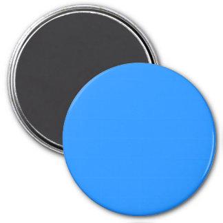 Three Inch Round Fridge Magnet: Dodger Blue. 3 Inch Round Magnet