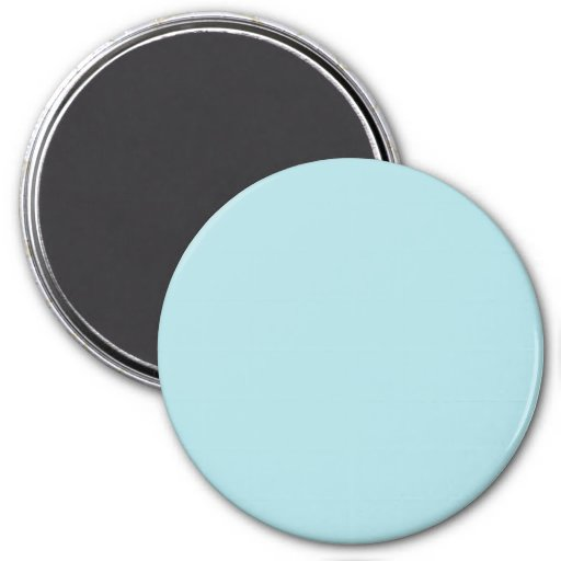Three Inch Round Fridge Magnet: Powder Blue.