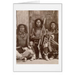 Three Indian Braves, photographed by the Royal Eng Card