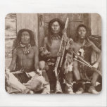 Three Indian Braves, photographed by the Royal Eng Mouse Pad