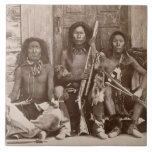 Three Indian Braves, photographed by the Royal Eng Tile