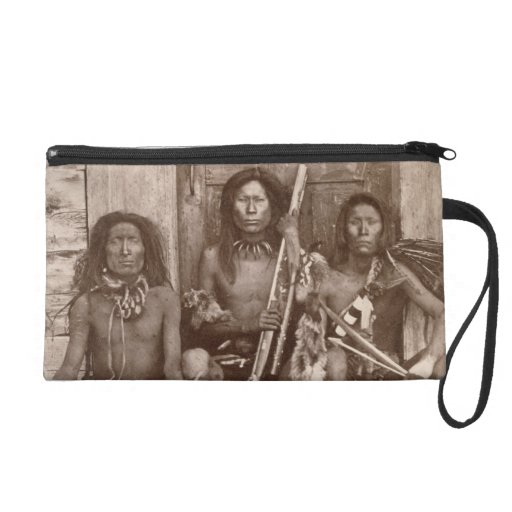 Three Indian Braves, photographed by the Royal Eng Wristlet Purse