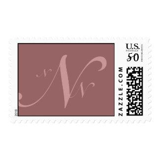 Three Initials Monogram Postage Stamp for Weddings