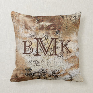 Three INITIALS or MONOGRAM Man Cave Pillow