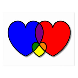 Three Interlocking Hearts Postcard