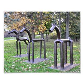 Three Iron Horses Photograph