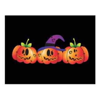 Three Jack O' Lanterns Postcard