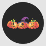 Three Jack O' Lanterns Sticker