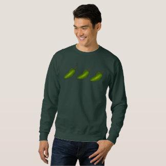 Three Jalapeños Green Jalapeno Pepper Sweatshirt