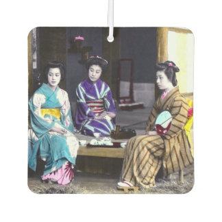 Three Japanese Geisha Vintage Old Japan Car Air Freshener