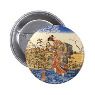 Three Japanese Women Pinback Button