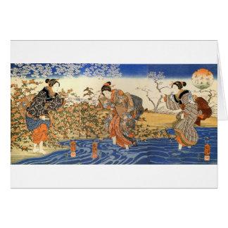 Three Japanese Women Greeting Cards