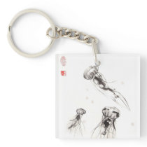 Three Jellyfish Keychain