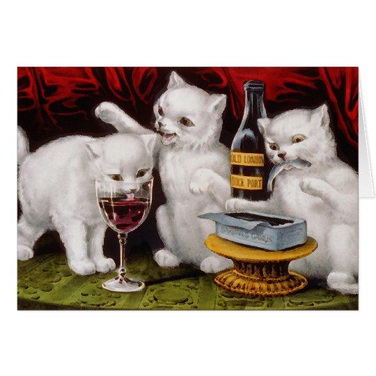 Three Jolly Kittens Card