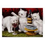 Three Jolly Kittens Greeting Card