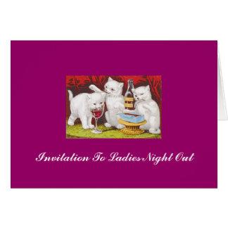 Three_jolly_kittens, Invitation To Ladies Night...