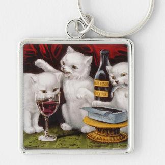 Three Jolly Kittens Keychain