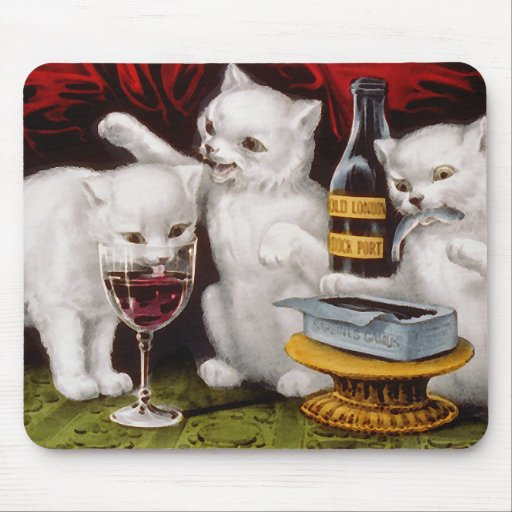 Three Jolly Kittens Mouse Pad