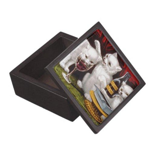 Three Jolly Kittens Premium Jewelry Box