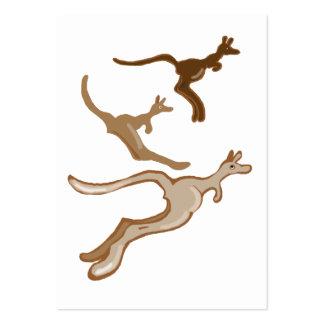 Three kangaroos large business card
