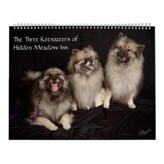 Three Keesateers of Hidden Meadow Inn Calendar