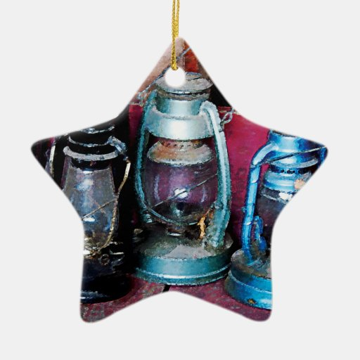 Three Kerosene Lamps Christmas Tree Ornament