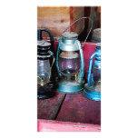 Three Kerosene Lamps Custom Photo Card