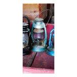 Three Kerosene Lamps Rack Cards