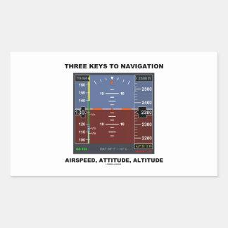 Three Keys To Navigation Airspeed Attitude EFIS Rectangular Stickers