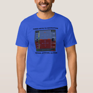 Three Keys To Navigation Airspeed Attitude EFIS T-shirt