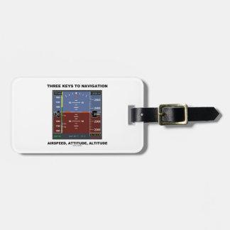 Three Keys To Navigation Airspeed Attitude EFIS Tag For Luggage