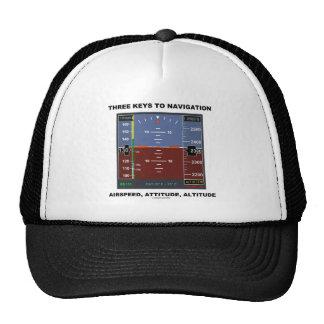 Three Keys To Navigation Airspeed Attitude EFIS Trucker Hat