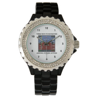 Three Keys To Navigation Airspeed Attitude EFIS Wrist Watch