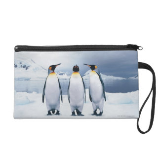Three King Penguins Wristlet Purse