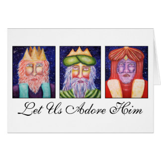 "Three Kings Art ""Let Use Adore Him"" Christmas Greeting Card"