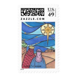 Three Kings Christian Christmas stamp